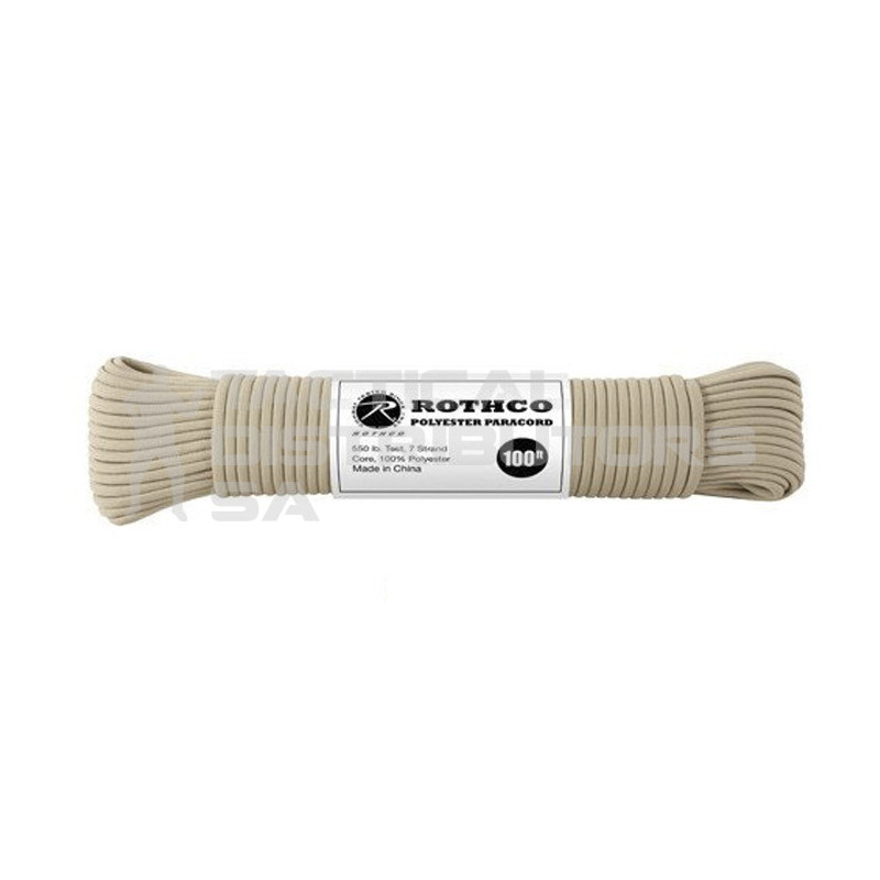 100ft 550 Polyester Paracord - Various