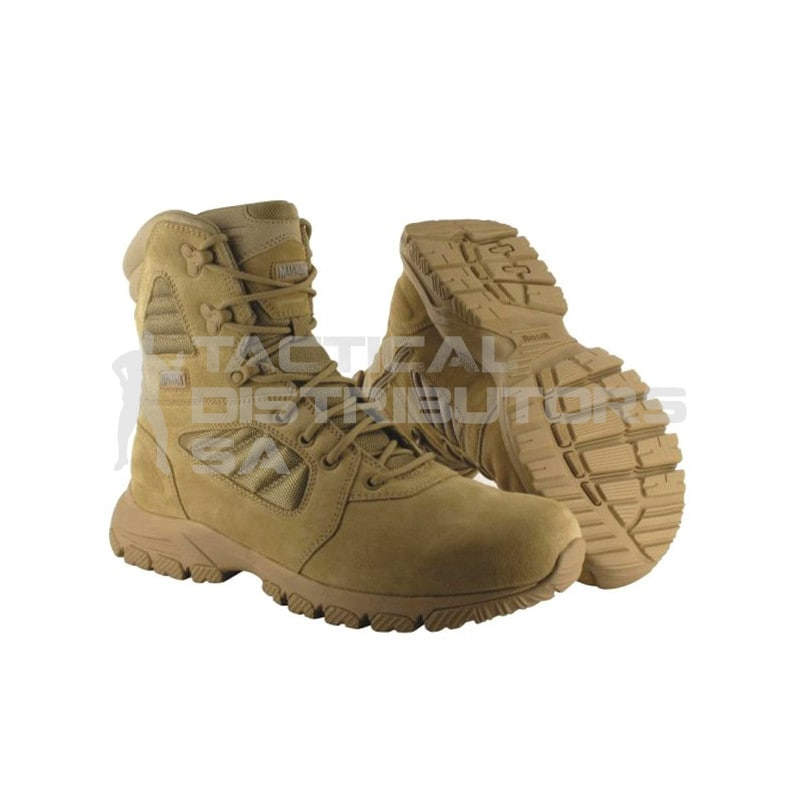 Magnum Lynx 8.0 Desert Tan Side Zip Boot