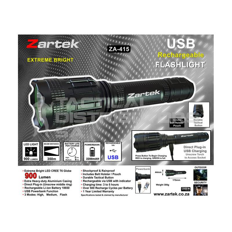 Zartek ZA-415 900 Lumen Tactical Flashlight