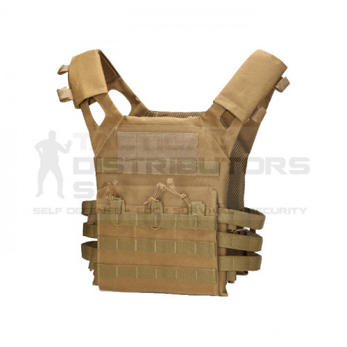 Basic Lightweight Steel AK MOLLE Plate Carrier - Various