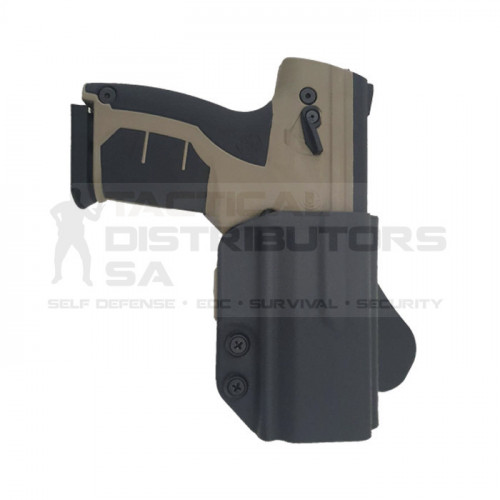 Kydex OWB Adjustable Paddle Holster for Byrna Pistol - BK - RH