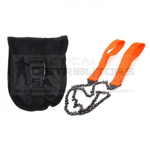DZI Pocket Hand Chain Saw with Pouch - Orange