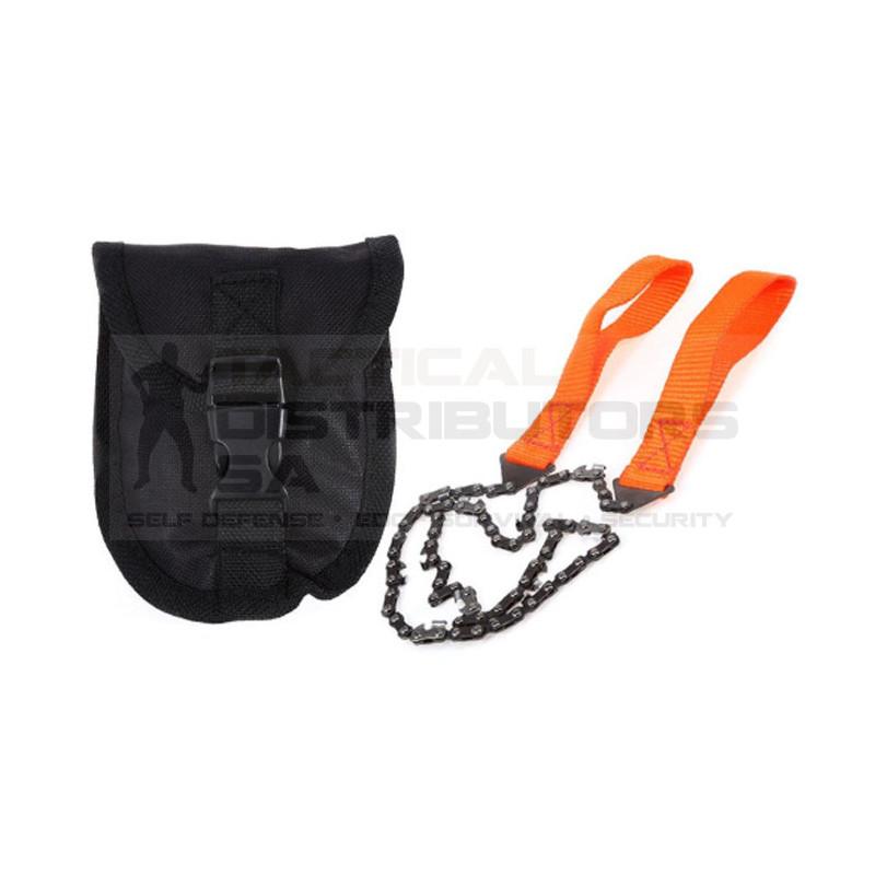 DZI Pocket Hand Chain Saw with Pouch - Orange
