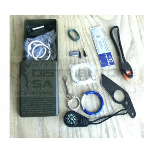 DZI EDC 12 in 1 Mini Survival Kit - OD