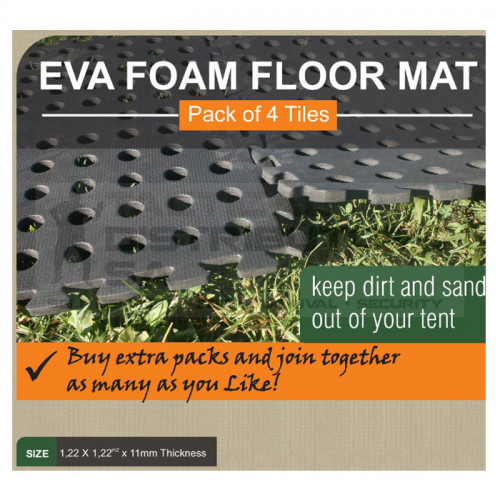 Tentco EVA Foam Mats - Pack of 4 - 630mm x 630mm