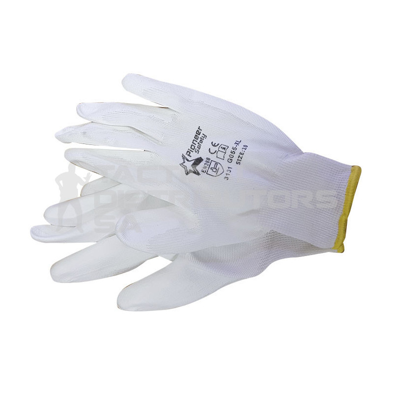 Pioneer White Pu Coated Inspector Gloves