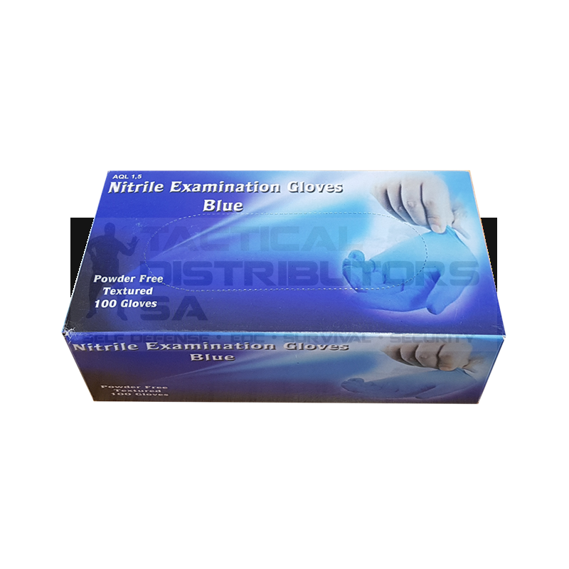 Blue Nitrile Examination Gloves Powder Free