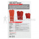 "8"" Supa Red Heat Resistant Elbow Kevlar Stitched Welding Gloves - OSFM"