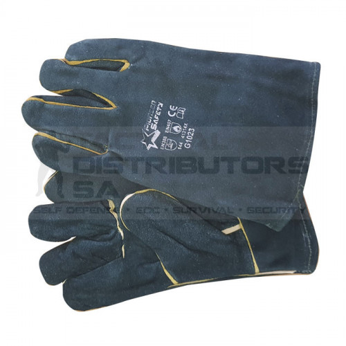 "2.5"" Green Lined Wrist Length Welding Gloves - OSFM"