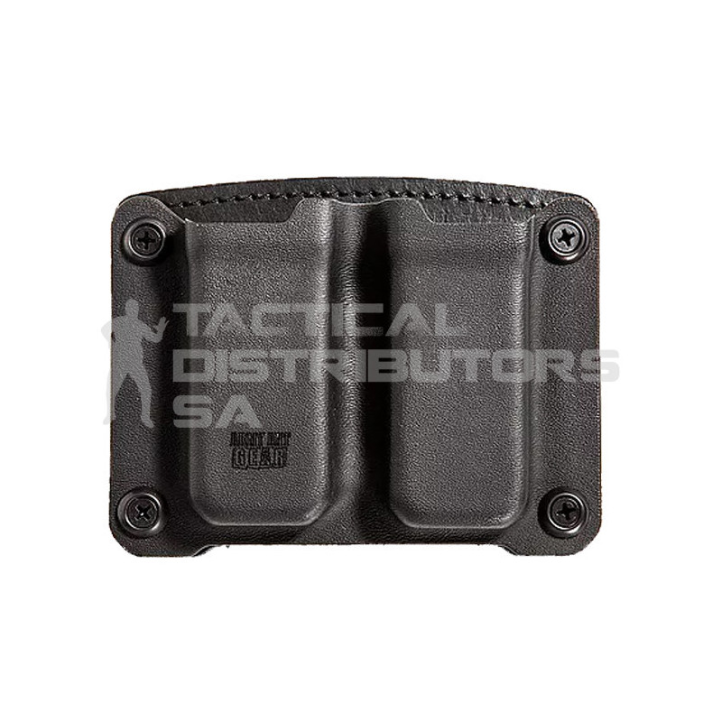 AAG Kydex and Leather OWB Magazine Pouch For Glock & Other Wide Double Stack Mags