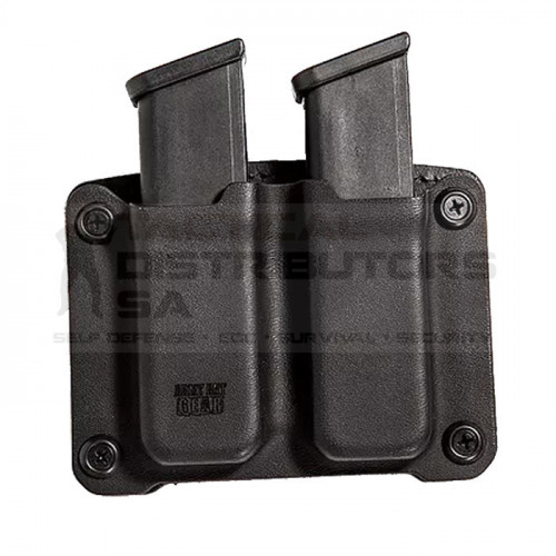 AAG Kydex and Leather OWB Magazine Pouch For Narrow/Steel Double Stack Mags