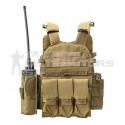 Basic Medium MOLLE Steel AK Plate Carrier - Various