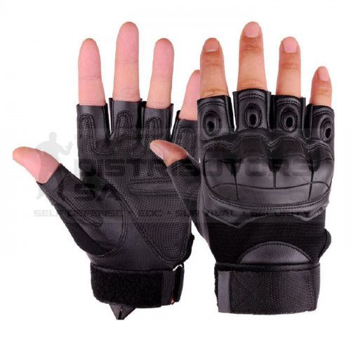 TacSpec  Basic Fingerless Rubber Knuckle Tactical Gloves - Various