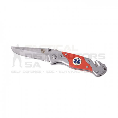 Rescue Knife - Serrated Blade - Orange