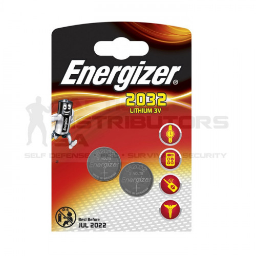 Energizer CR2032BS2 3V Lithium Coin Battery (2 Pack)