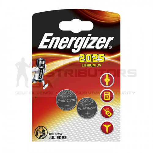 Energizer CR2025BS2 3V Lithium Coin Battery (2 Pack)
