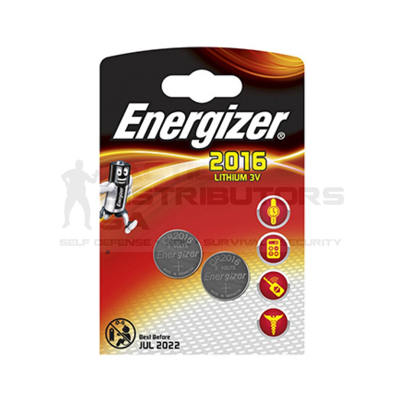 Energizer CR2016BS1 3V Lithium Coin Battery (2 Pack)