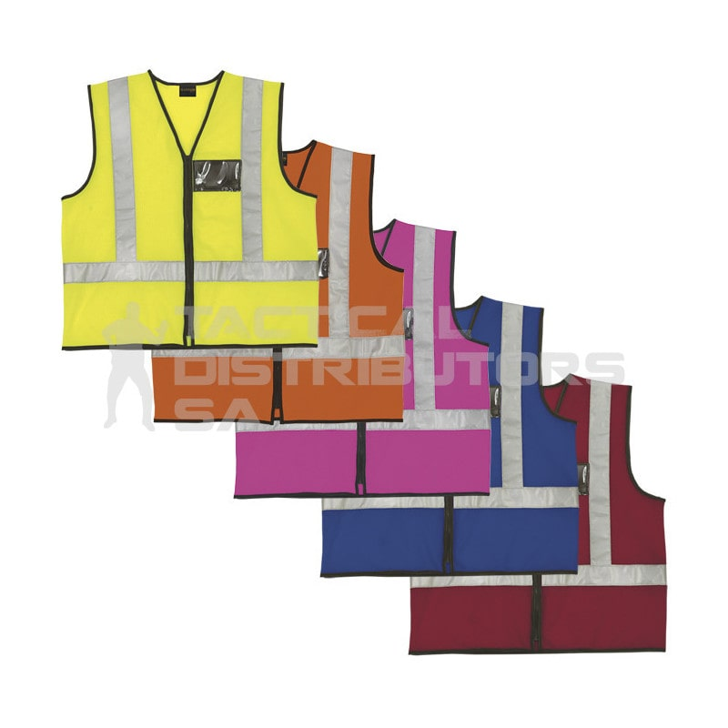 Reflective Jacket with Zip and ID Pouch - Various Colours