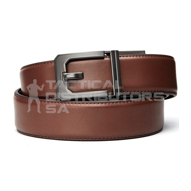 Kore Classic Reinforced Leather Ratcheting Gun Belt with...