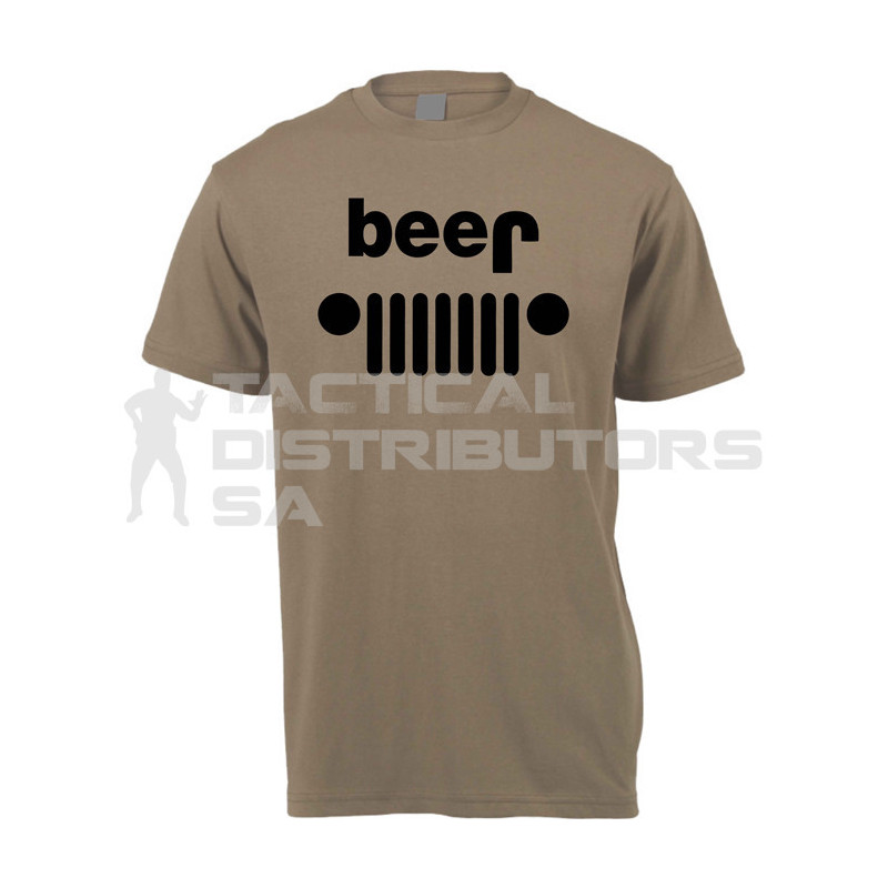 "DZI ""Beer/Jeep"" 180g Logo T-Shirt - Various"