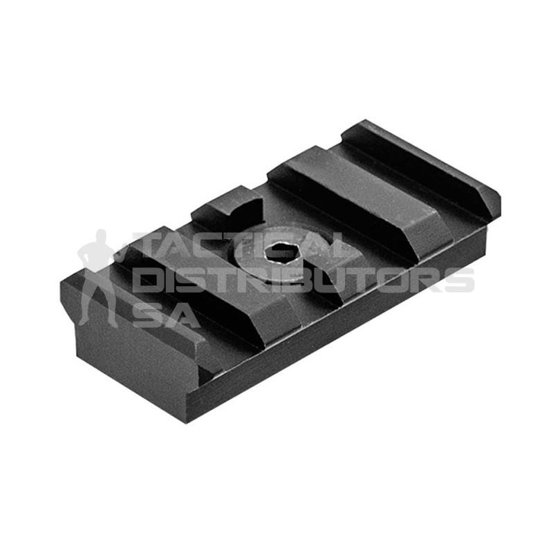 UTG PRO M-LOK 4-Slot Picatinny Rail Section, Black