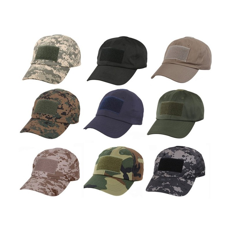 DZI Basic Tactical Cap with Velcro - Various