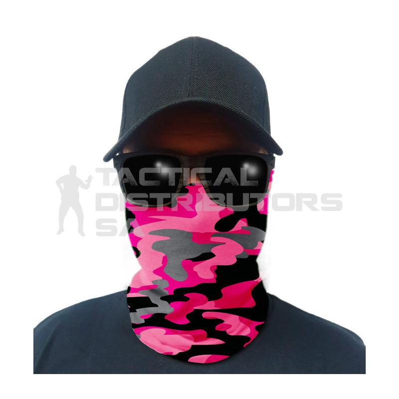 Multi-Use Tubular Bandana/Gator Face Shield - Pink...