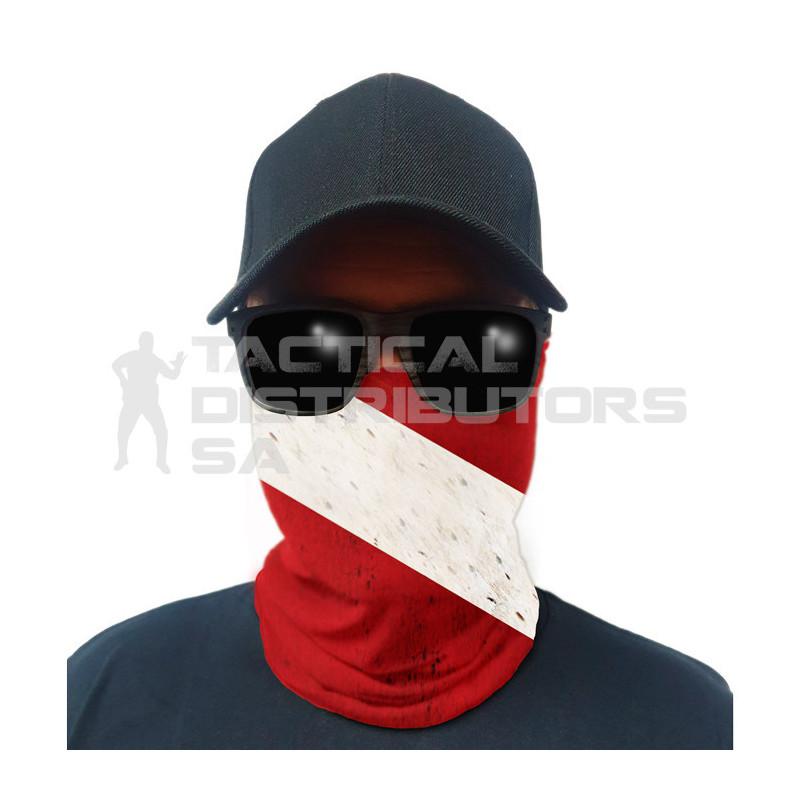 Multi-Use Tubular Bandana/Gator Face Shield - Dive Flag