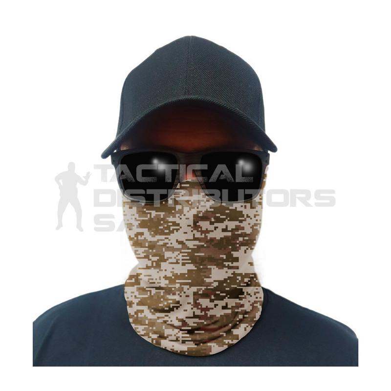 Multi-Use Tubular Bandana/Gator Face Shield - Desert Digital