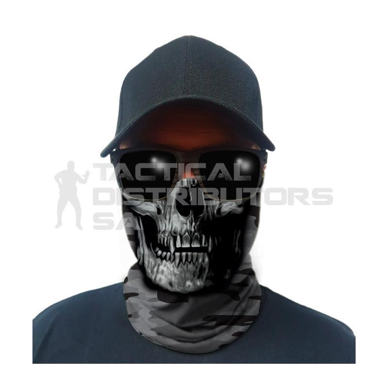 Multi-Use Tubular Bandana/Gator Face Shield - Grey...