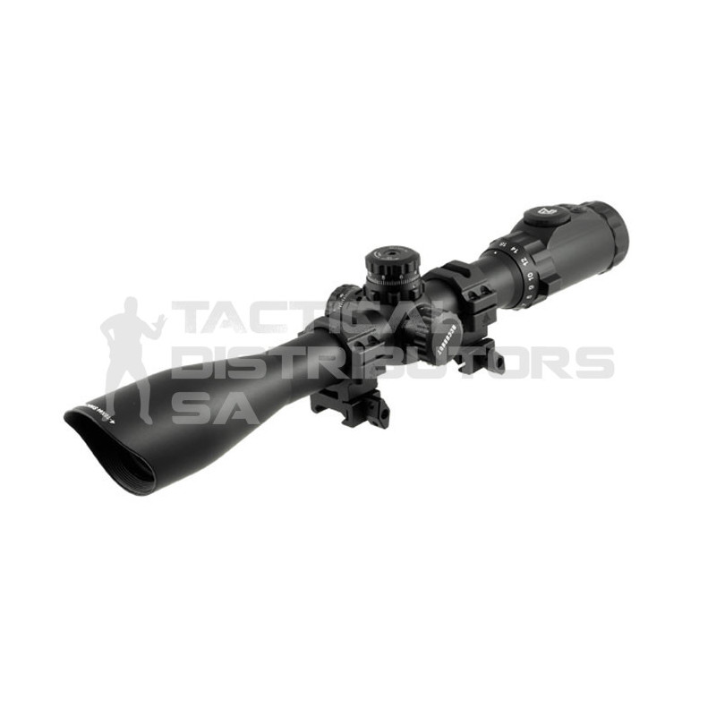 UTG Accushot 4-16X44 30mm Scope, AO, 36-Color Mil-Dot, w/...