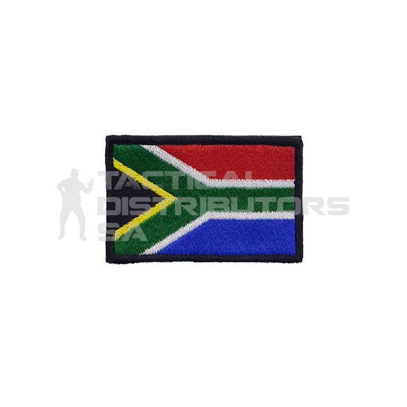 DZI SA Flag Embroidered Velcro Patch - Various Colours