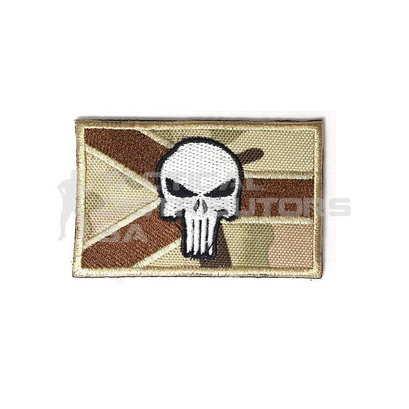 DZI SA Flag Punisher Embroidered Velcro Patch - Multicam