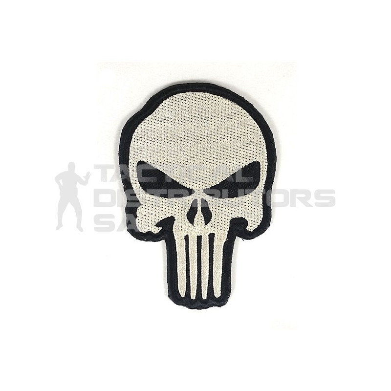 DZI Large Punisher Embroidered Velcro Patch - Black