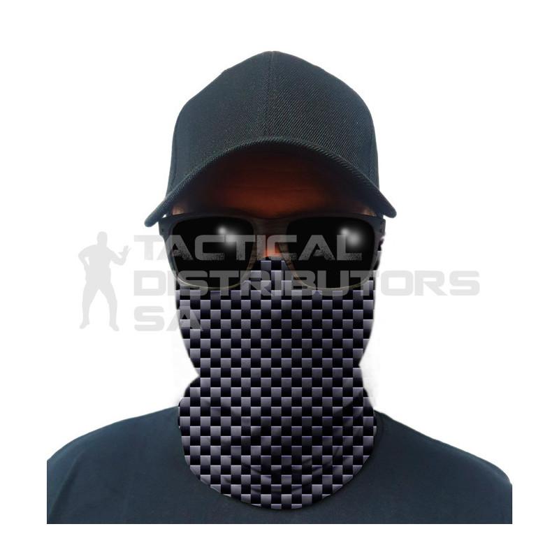 Multi-Use Tubular Bandana/Gator Face Shield - Carbon Fiber