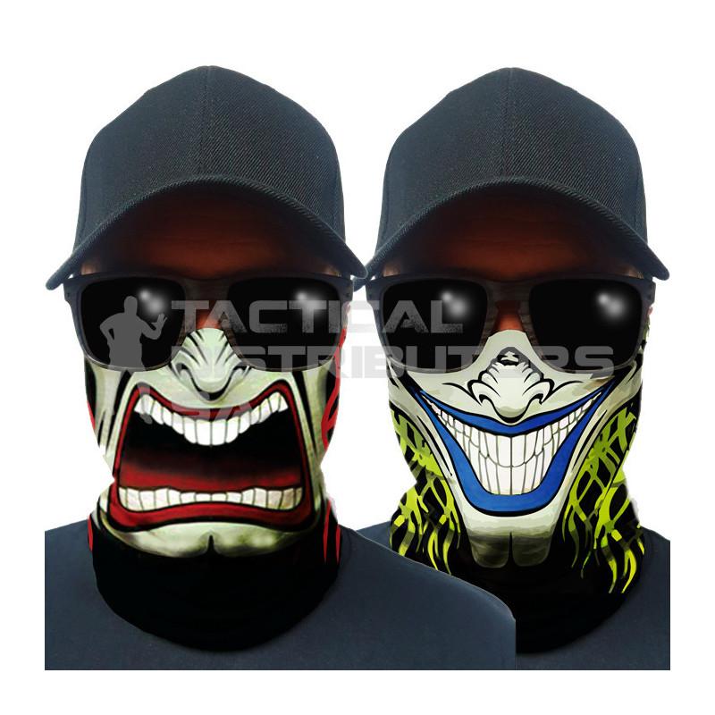 Multi-Use Tubular Bandana/Gator Face Shield - Two Face