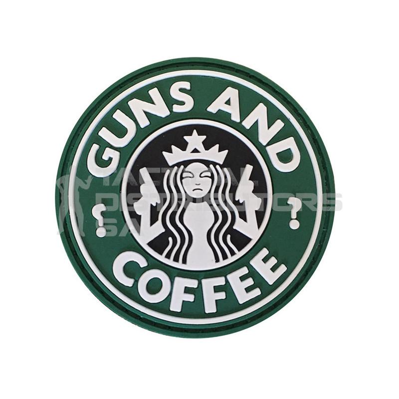 "TacSpec ""Guns and Coffee"" PVC Velcro Patch"