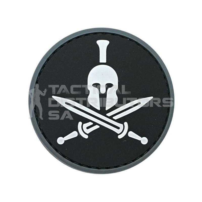 """TacSpec """"Round Spartan Molon Labe"""" PVC Velcro Patch -..."""