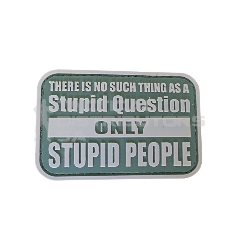 "TacSpec ""Stupid Questions"" PVC Velcro Patch"