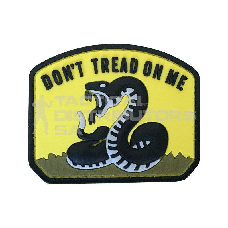 "TacSpec ""Don't Tread on Me"" PVC Velcro Patch - Yellow"