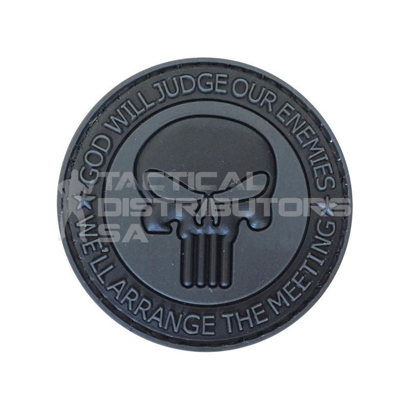 """TacSpec """"Arrange the Meeting Punisher"""" PVC Velcro Patch -..."""