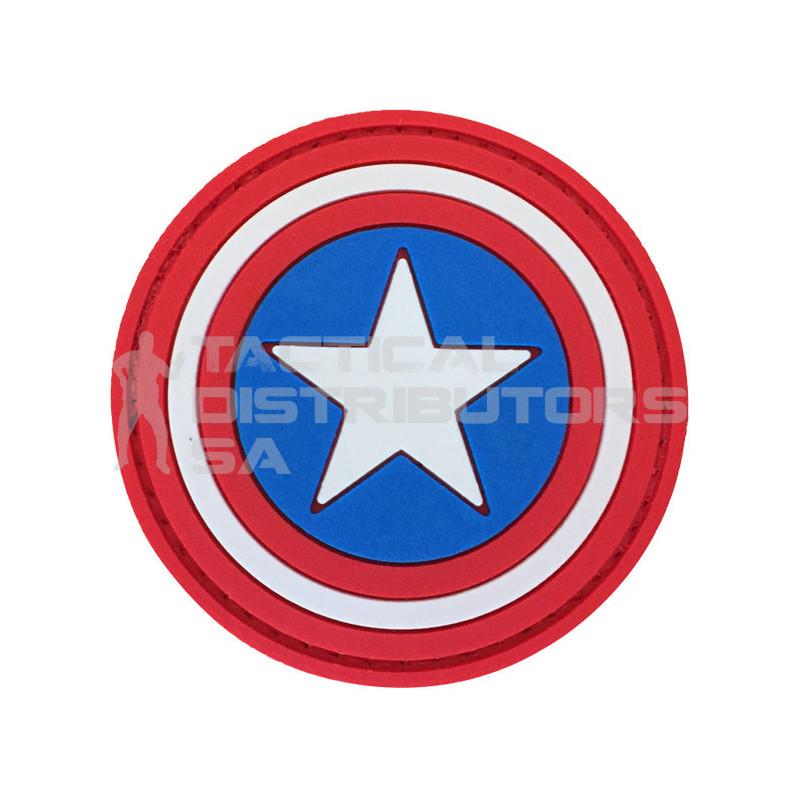 """TacSpec """"Captain America Shield"""" PVC Velcro Patch"""