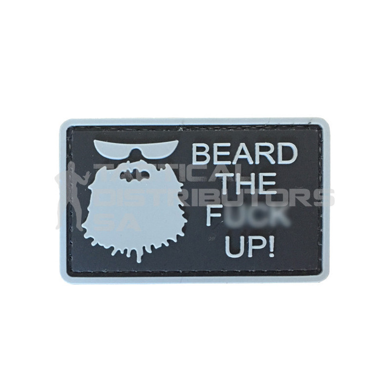 "TacSpec ""Beard the F* Up"" PVC Velcro Patch - Black"