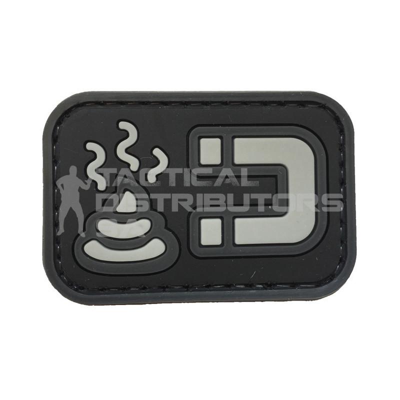 """TacSpec """"Sh* Magnet"""" PVC Velcro Patch - Black"""