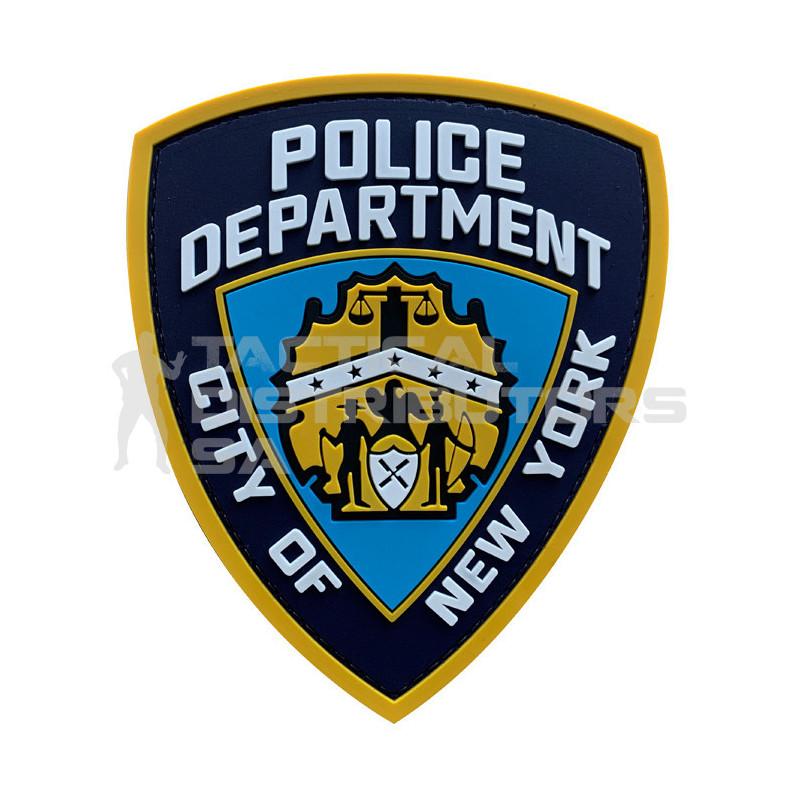 "TacSpec ""NYPD Badge"" PVC Velcro Patch"
