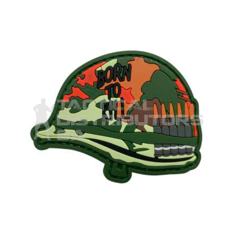 "TacSpec ""Born to Kill Helmet"" PVC Velcro Patch"