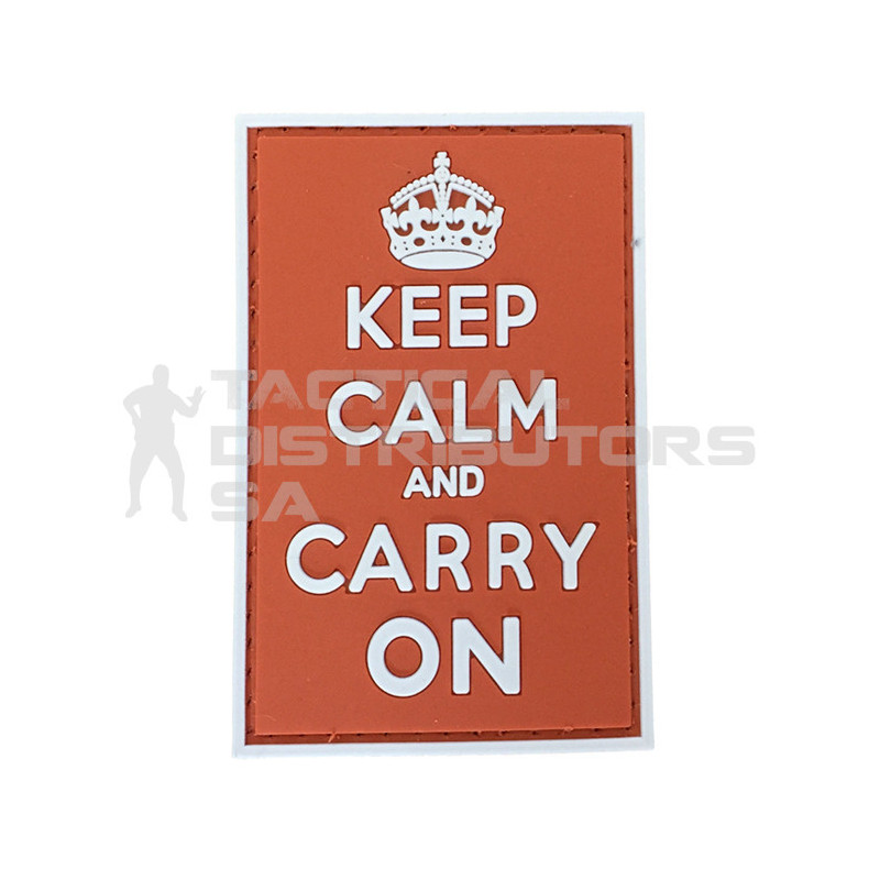 "TacSpec ""Keep Calm and Carry On"" PVC Velcro Patch -..."