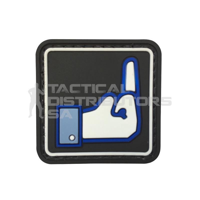 "TacSpec ""Square Dislike Button"" PVC Velcro Patch -..."