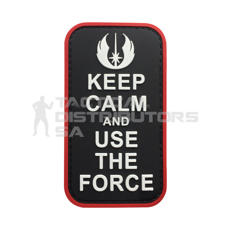 """TacSpec """"Keep Calm and Use the Force"""" PVC Velcro Patch"""