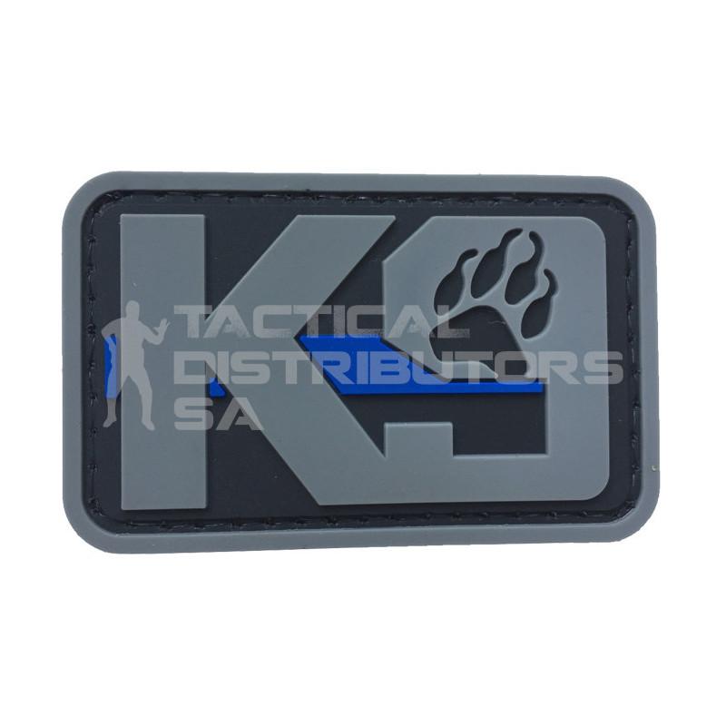 """TacSpec """"K9 Paw with Blue Line"""" PVC Velcro Patch"""